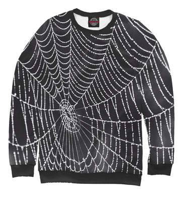 Sweatshirt Sweatshirt spiderweb with droplets of water | MAC-761989-swi photo #1