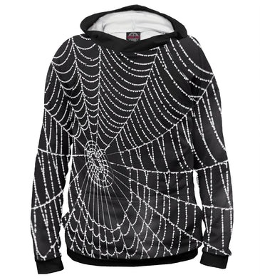 Hoody Hoody spiderweb with droplets of water | MAC-761989-hud photo #1