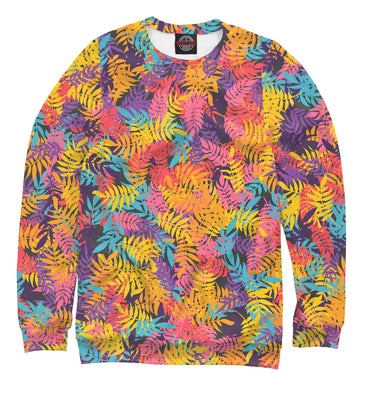 Sweatshirt Sweatshirt iridescent leaves | ABS-141928-swi photo #1