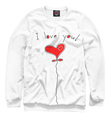 Sweatshirt Sweatshirt i love you | 14F-975556-swi photo #1