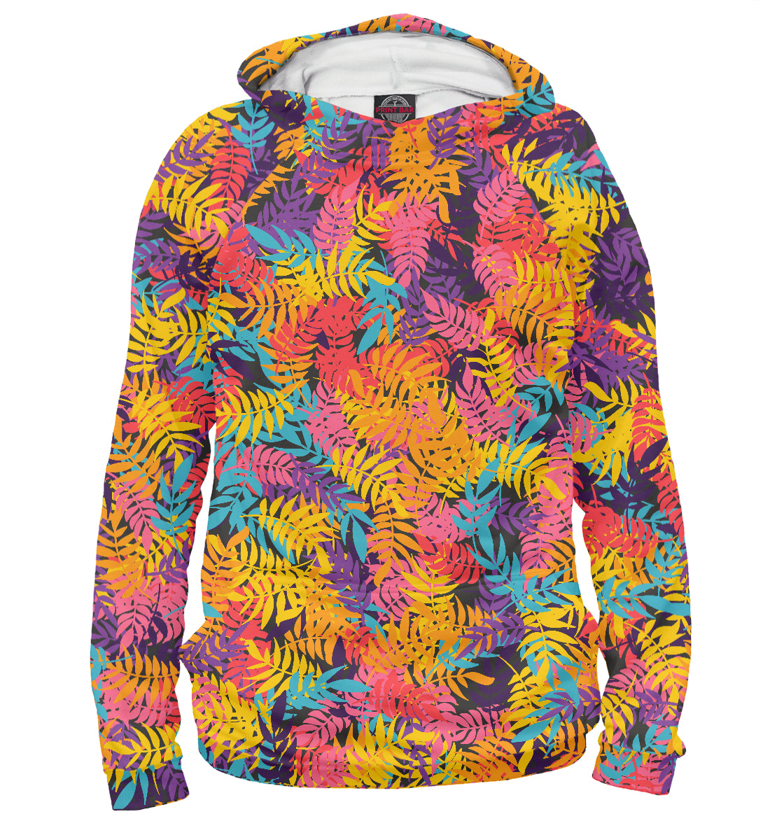 Hoody iridescent leaves | ABS-141928-hud