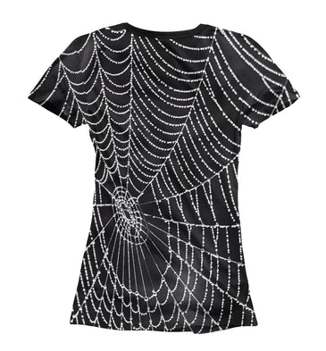 T-shirt T-shirt spiderweb with droplets of water | MAC-761989-fut-1 photo #2
