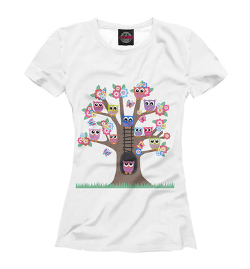 T-shirt T-shirt owl house | OWL-798096-fut-1 photo #1