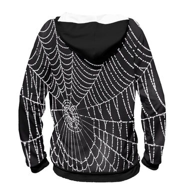 Hoody Hoody spiderweb with droplets of water | MAC-761989-hud photo #2