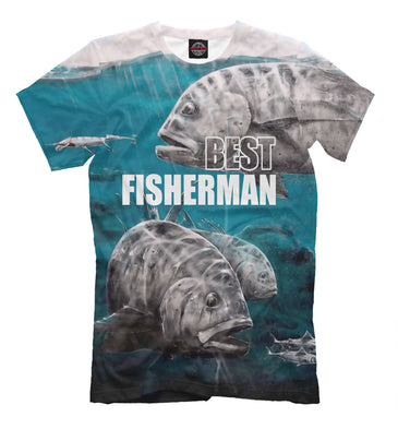 T-shirt T-shirt best fisherman | FSH-729829-fut-2 photo #1