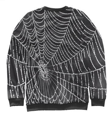 Sweatshirt Sweatshirt spiderweb with droplets of water | MAC-761989-swi photo #2