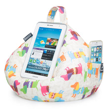 Load image into Gallery viewer, Dachshund Print iBeani bean bag tablet and mobile phone holder