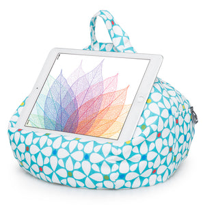 geometric bean bag tablet holder