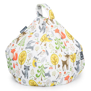 woodland scene print tablet and iPad bean bag cushion stand