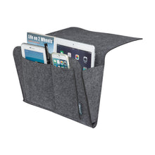 Load image into Gallery viewer, Felt Bedside Caddy Multi Pocket Organiser by iBeani - Slate Grey