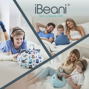 iPad, Tablet & eReader Bean Bag Cushion by iBeani - Slate Grey