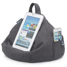 Load image into Gallery viewer, grey bean bag tablet and mobile phone holder