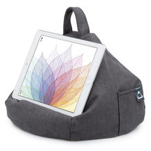 Load image into Gallery viewer, grey bean bag tablet cushion holder