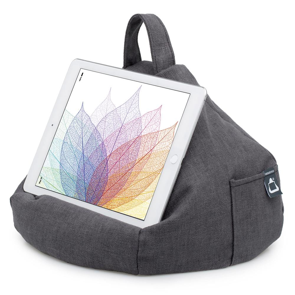 grey bean bag tablet cushion holder