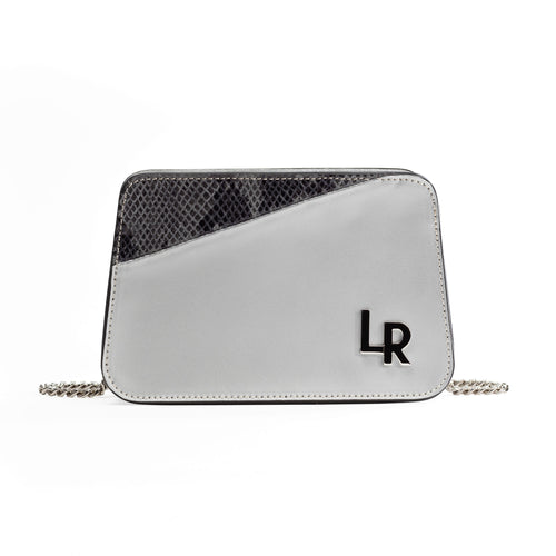 Sera - shoulder leather bag - silver