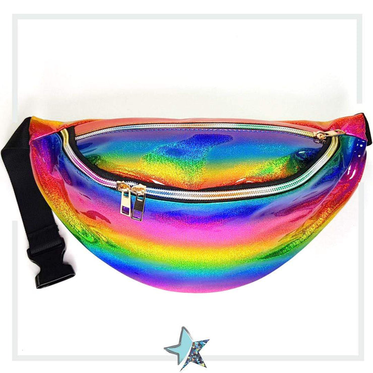 Cosmic Rainbow Holographic Fanny Pack - Starlight