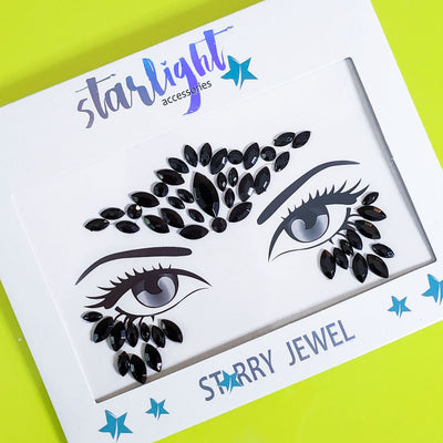 Black Diamond Face Jewel - Starlight