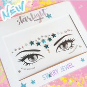 Blue Star Face Jewel - Starlight