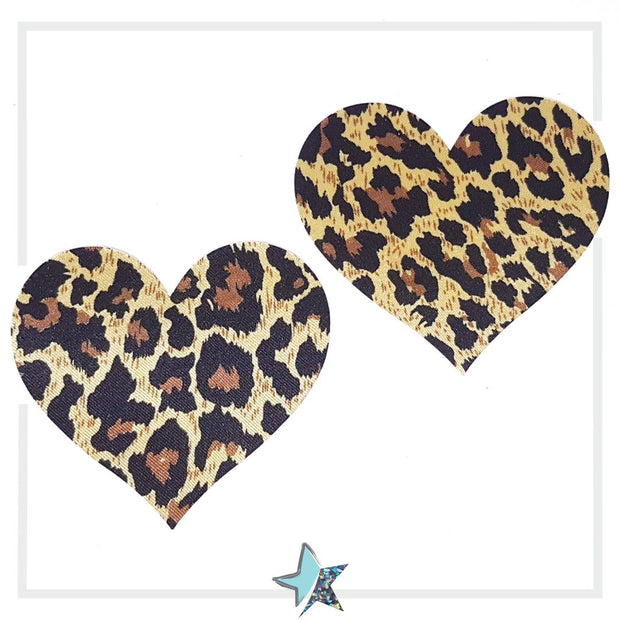 Animal Print Heart Pasties