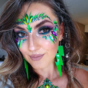 Green Iridescence Face Jewel - Starlight