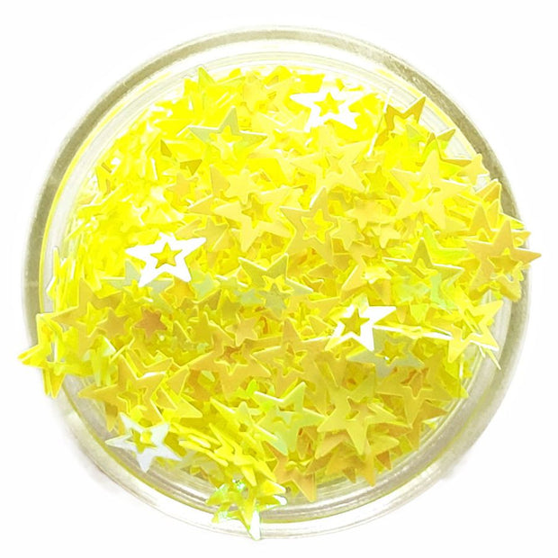 Yellow Hollow Star Glitter - Starlight