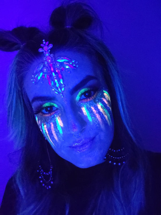Yellow Neon pigment GLOW UNDER BLACK LIGHT - Starlight