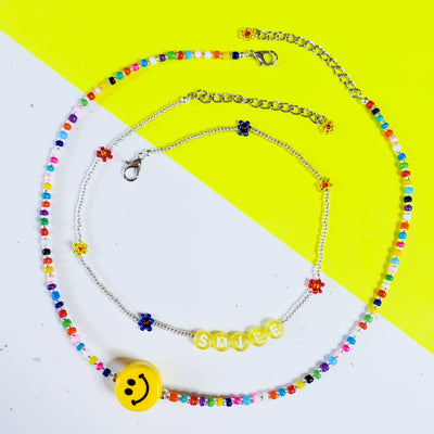 Happy Face Choker Set Starlight