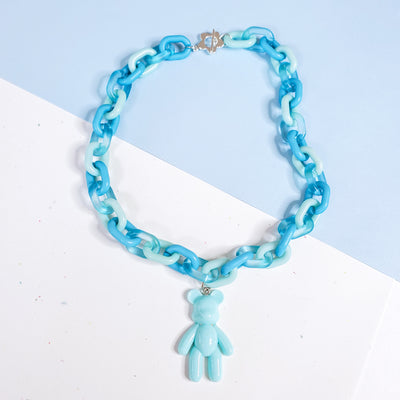 Pastel Blue Gummy Bear Choker Starlight