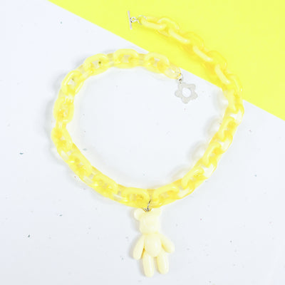 Pastel Yellow Gummy Bear Choker Starlight
