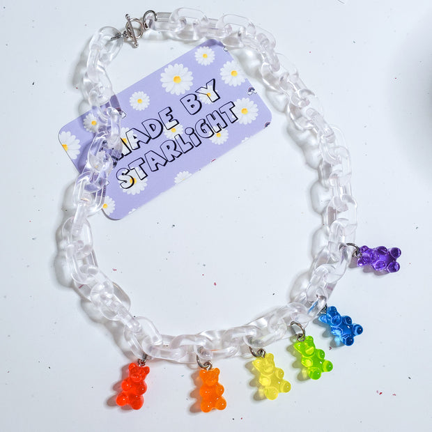 Rainbow Gummy Bear Necklace