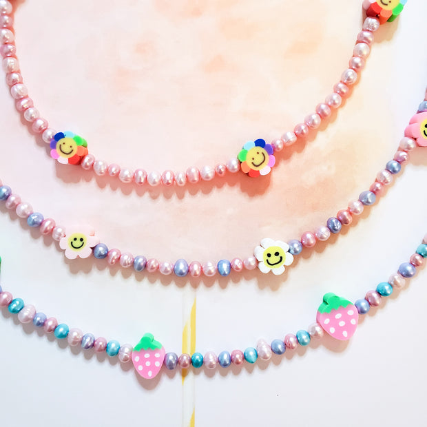 Daisy Pearl Necklace Starlight