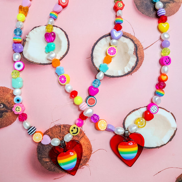 Rainbow Love Necklace Starlight