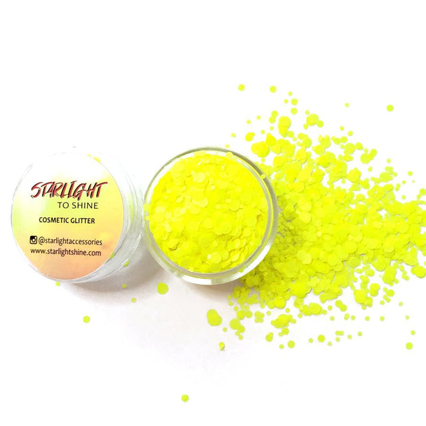 Yellow Neon Matte Chunky Glitter (UV reactive) - Starlight