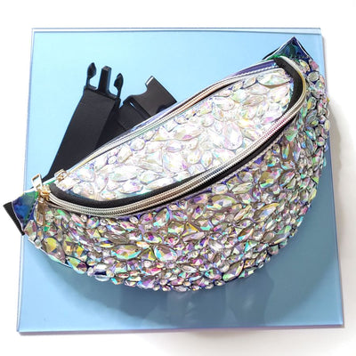 Jeweled Clear Fanny Pack - Starlight