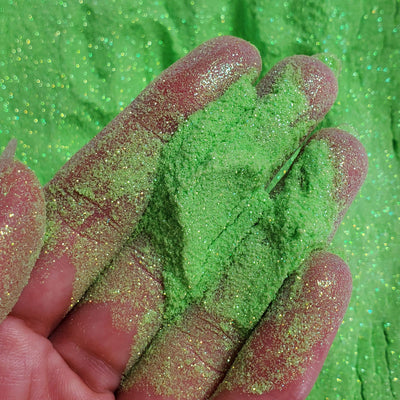 Neon Green Iridescent Gold fine glitter powder  - Starlight