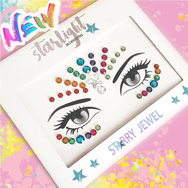Rainbow Face Jewel - Starlight