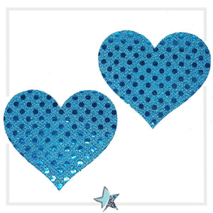Blue Heart Pasties