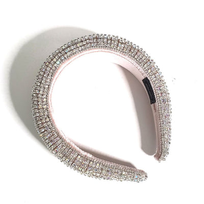 Silver Rhinestone Embroidered Headband