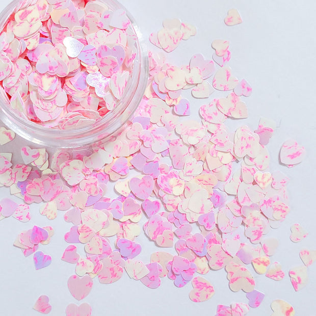 Merged Pink Heart Glitter - Starlight