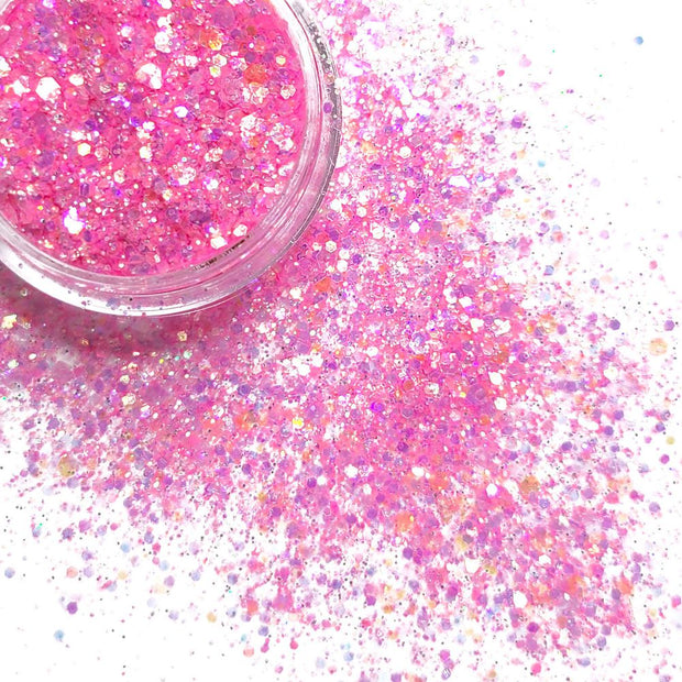 Cheer Bear Chunky Glitter ( UV reactive) - Starlight