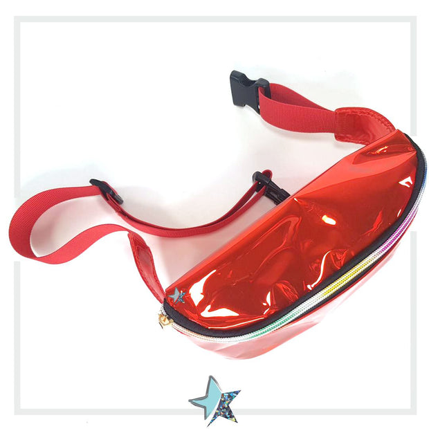 Red Clear Fanny Pack