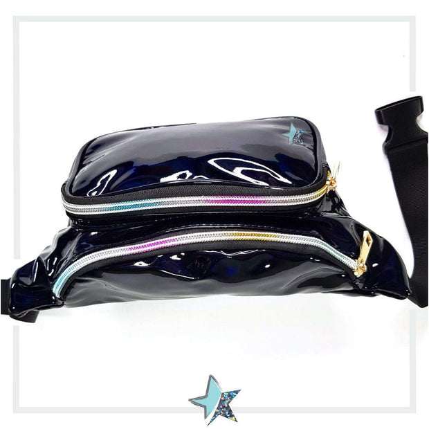 Holographic Black Fanny Pack