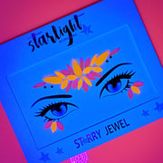 Neon Vibes Face Jewel UV Reactive - Starlight
