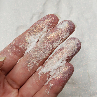 Gold Iridescent White fine glitter powder  - Starlight