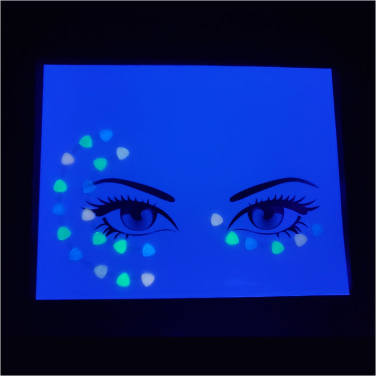 Fest Neon Face Jewel GLOW UNDER BLACK LIGHT - Starlight