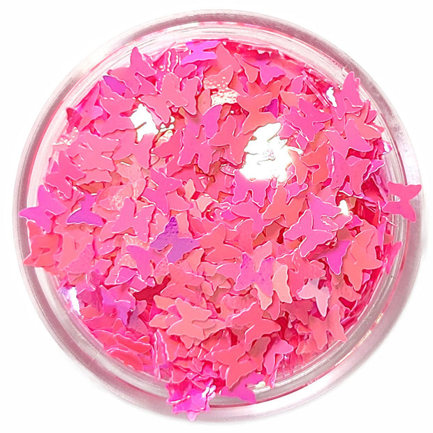 Hot Pink Butterfly Glitter - Starlight