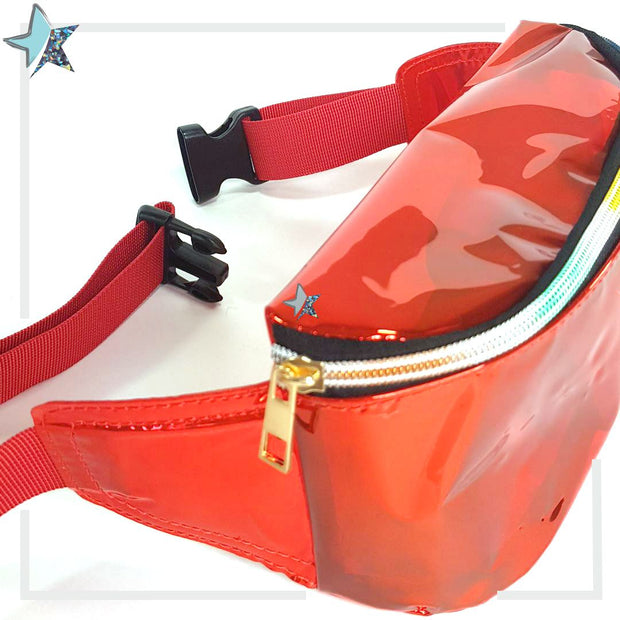 Red Iridescent Clear Fanny Pack - Starlight