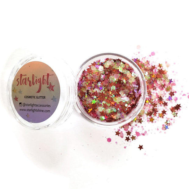 Cotton Candy Chunky Glitter - Starlight