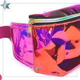 Pink Iridescent Clear Fanny Pack - Starlight