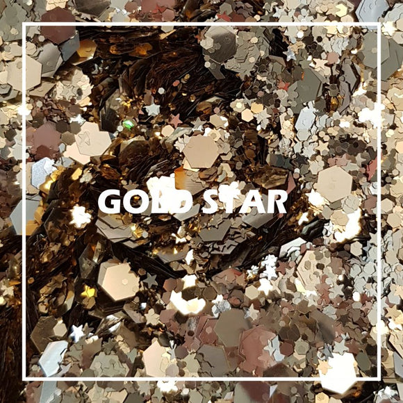 Gold Star Chunky Glitter - Starlight